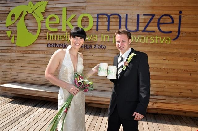 Poroka v Ekomuzeju hmeljarstva in pivovarstva Slovenije